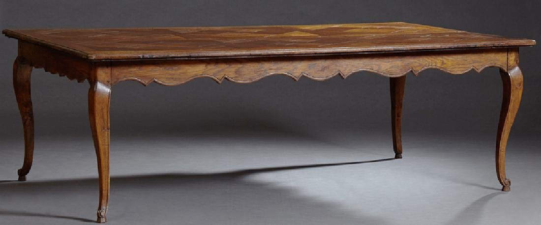 French Provincial Carved Oak Louis XV Style Dining