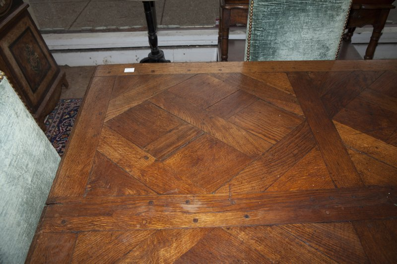 French Provincial Carved Oak Louis XV Style Dining - 5