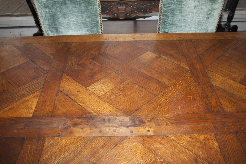 French Provincial Carved Oak Louis XV Style Dining - 6