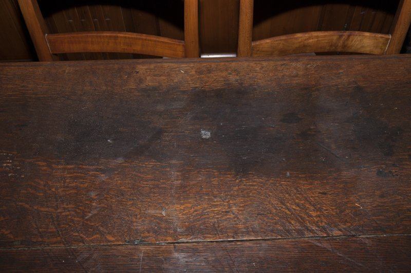 French Henri II Style Carved Oak Library Table, early - 4