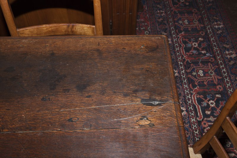 French Henri II Style Carved Oak Library Table, early - 5