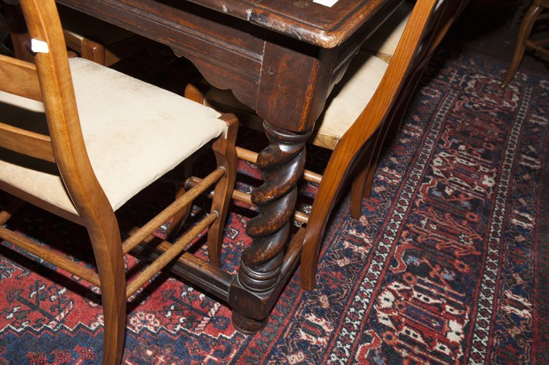 French Henri II Style Carved Oak Library Table, early - 8
