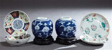 Group of Six Pieces of Asian Porcelain, consisting of a