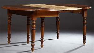French Provincial Louis Philippe Style Carved Oak Drop
