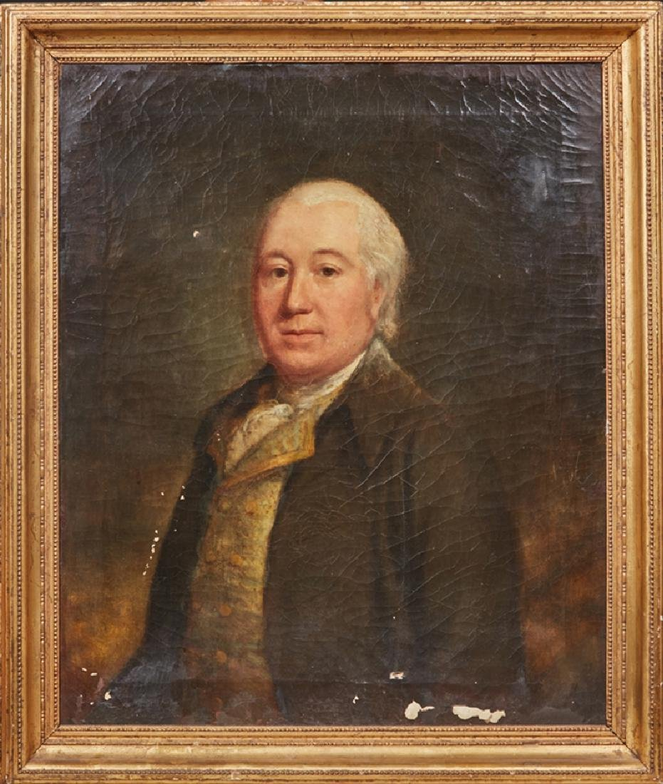 "English School, ""Portrait of a Gentleman,"" 19th c., oil"