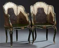Pair of French Louis XV Style Polychromed Carved