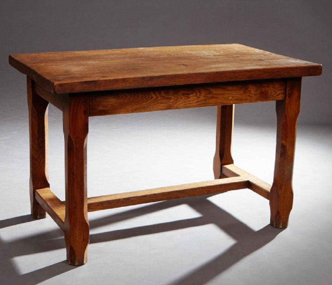 French Provincial Carved Writing Table, early 20th c.,