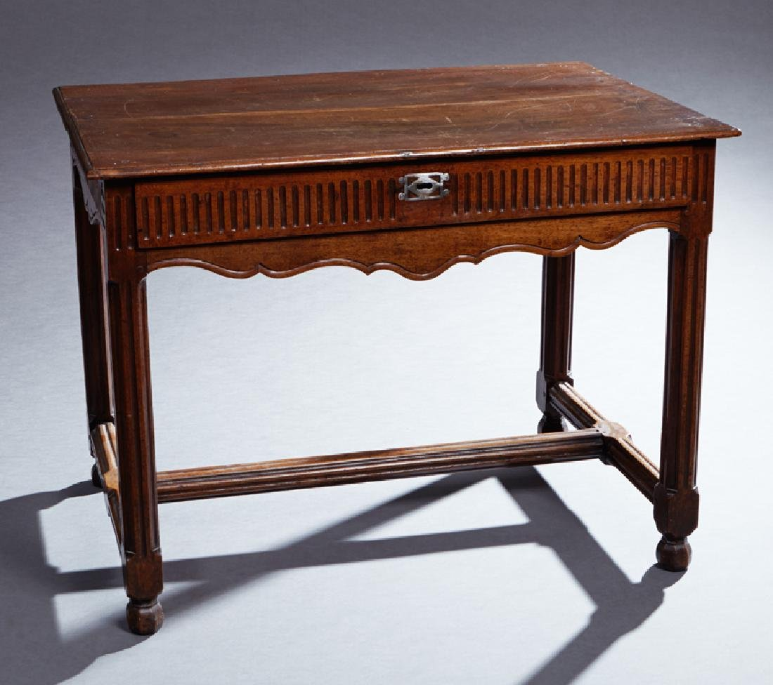 French Louis XVI Style Carved Walnut Writing Table, c.