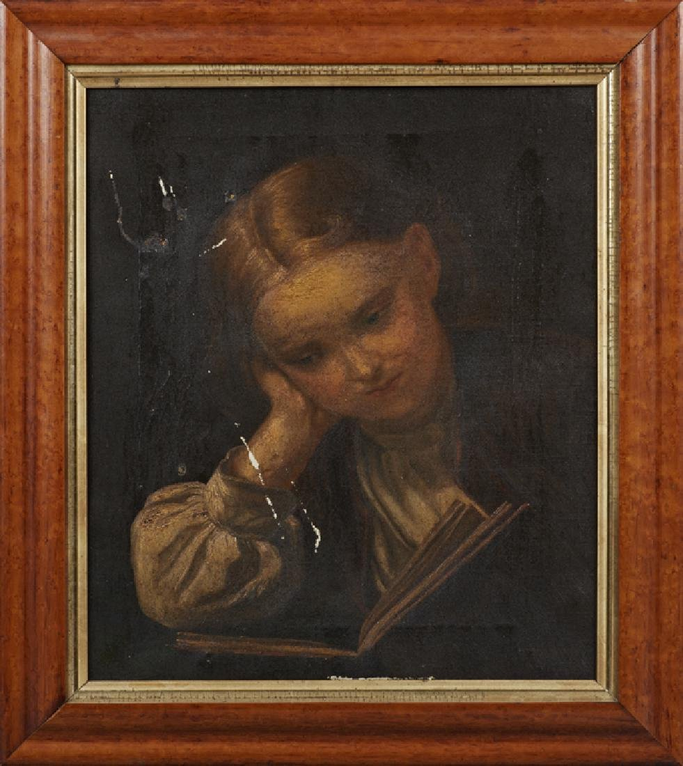 "Continental School, ""Woman Reading a Book,"" 19th c.,"