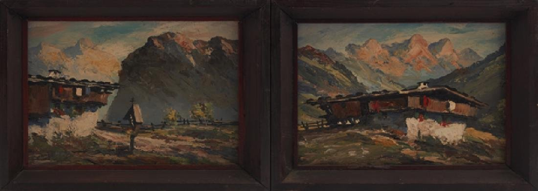 "Ralph Fehey, ""Tyrolean Mountain Landscape,"" early 20th"