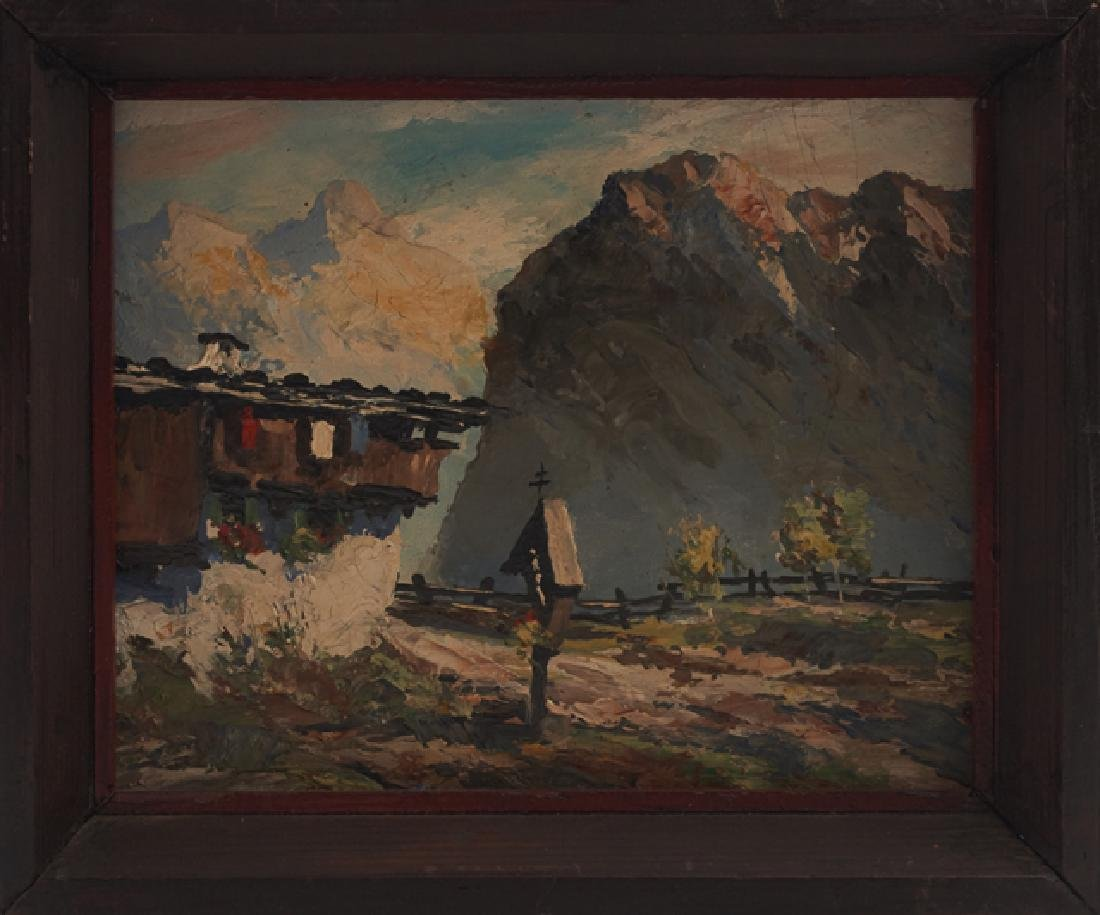 "Ralph Fehey, ""Tyrolean Mountain Landscape,"" early 20th - 2"