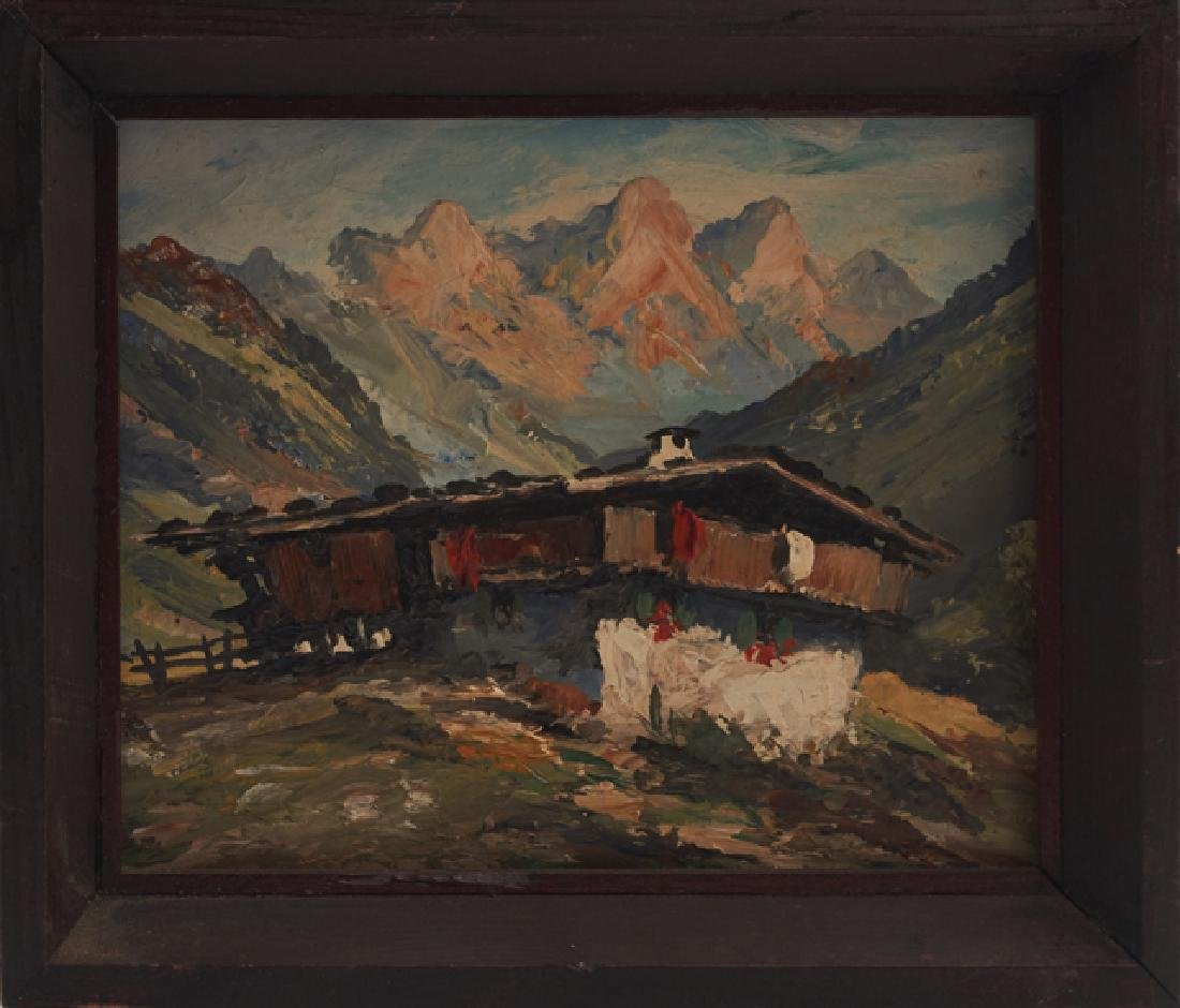 "Ralph Fehey, ""Tyrolean Mountain Landscape,"" early 20th - 3"