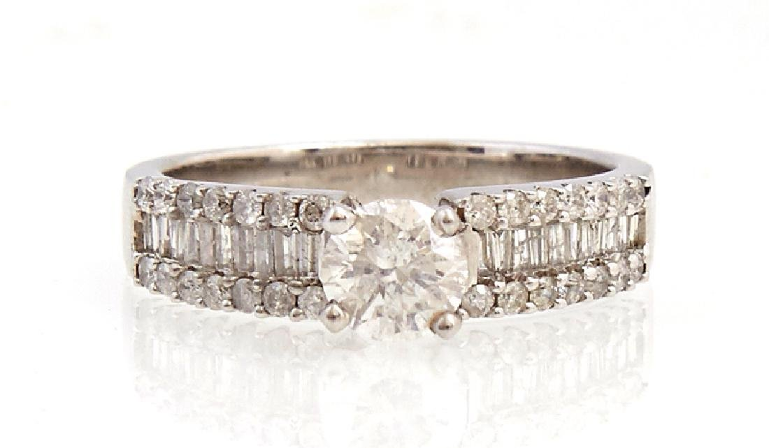 Lady's 14K White Gold Dinner Ring, with a .57 carat