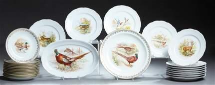 Twenty-Six Pieces of French Porcelain Dinnerware, 20th
