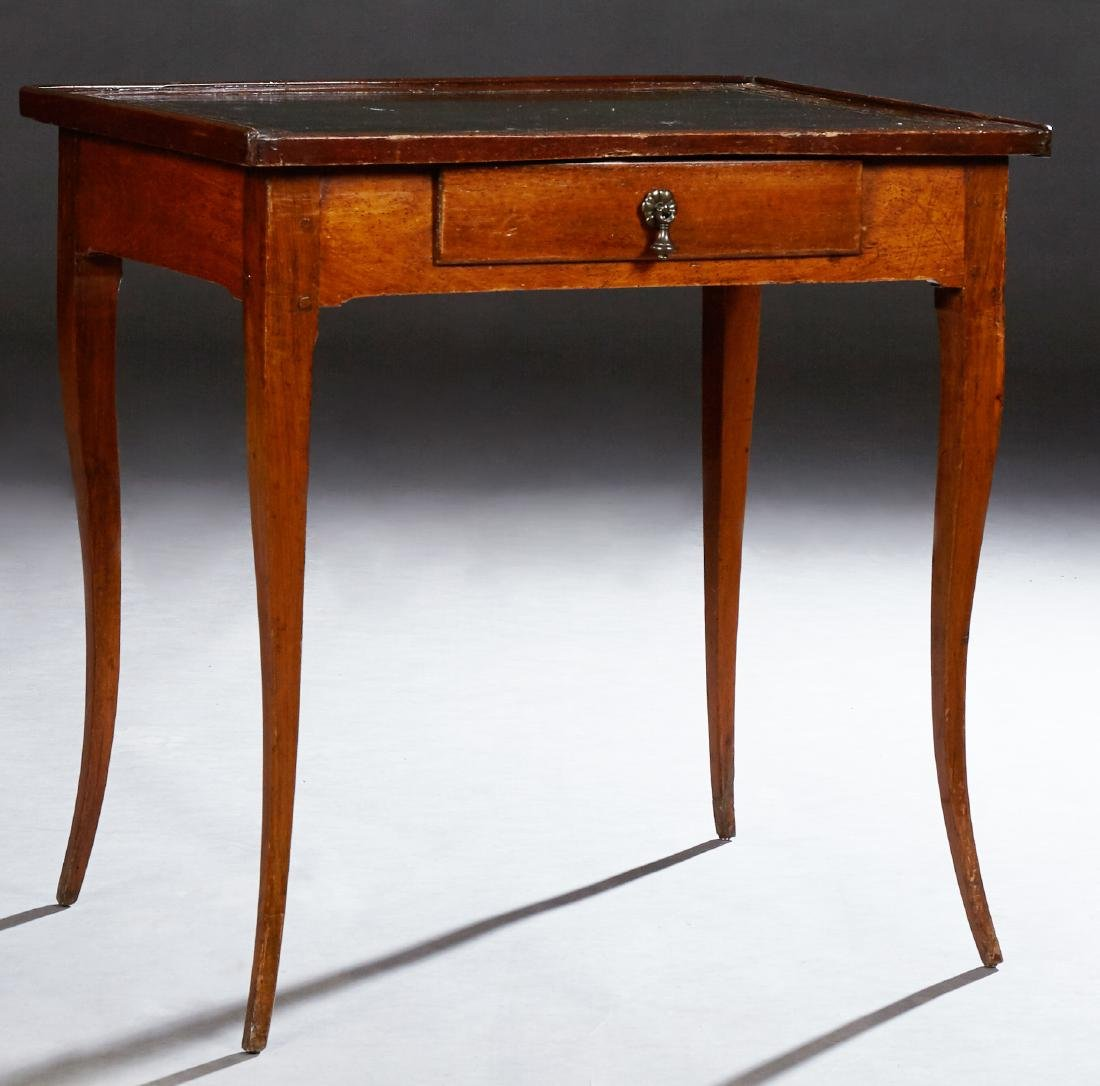 French Provincial Carved Mahogany Writing Table, 19th