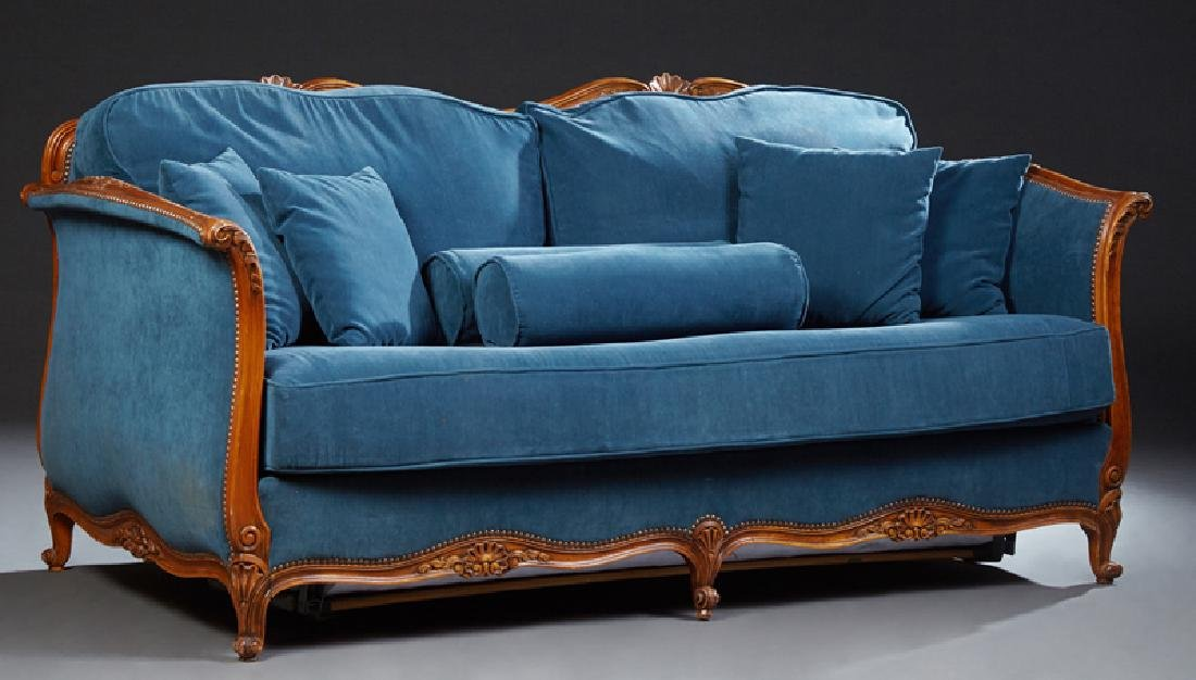 French Louis XV Style Carved Walnut Three Piece Parlor - 2
