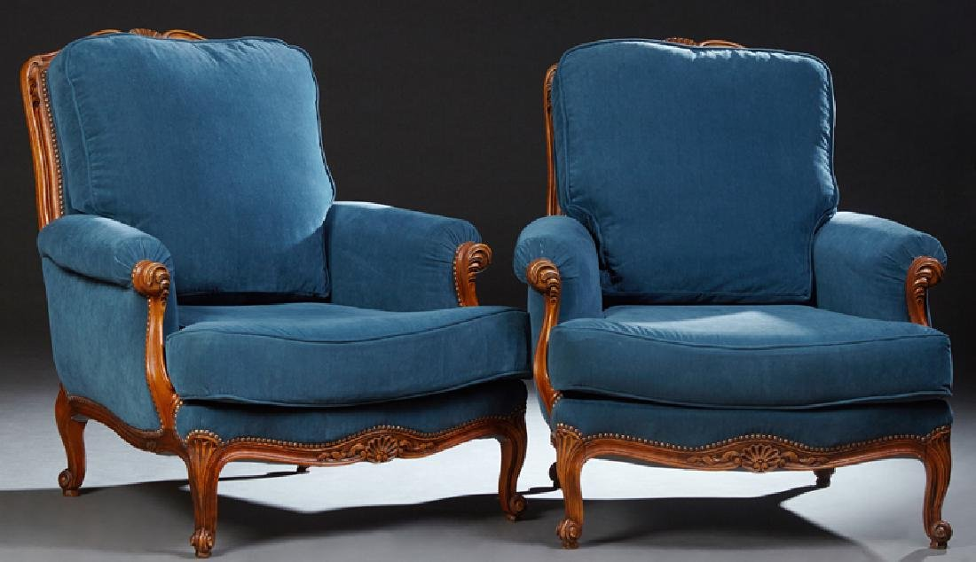 French Louis XV Style Carved Walnut Three Piece Parlor - 4