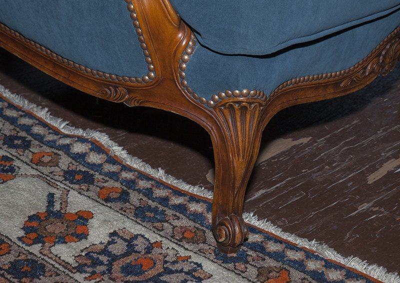 French Louis XV Style Carved Walnut Three Piece Parlor - 5