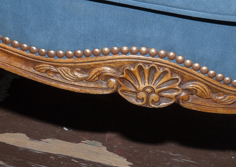 French Louis XV Style Carved Walnut Three Piece Parlor - 7