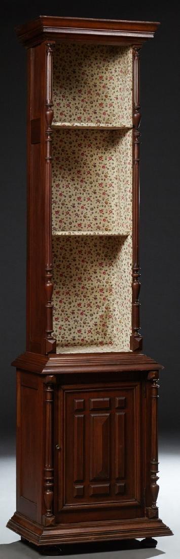 French Henri II Style Tall Open Shelf, c. 1900, the