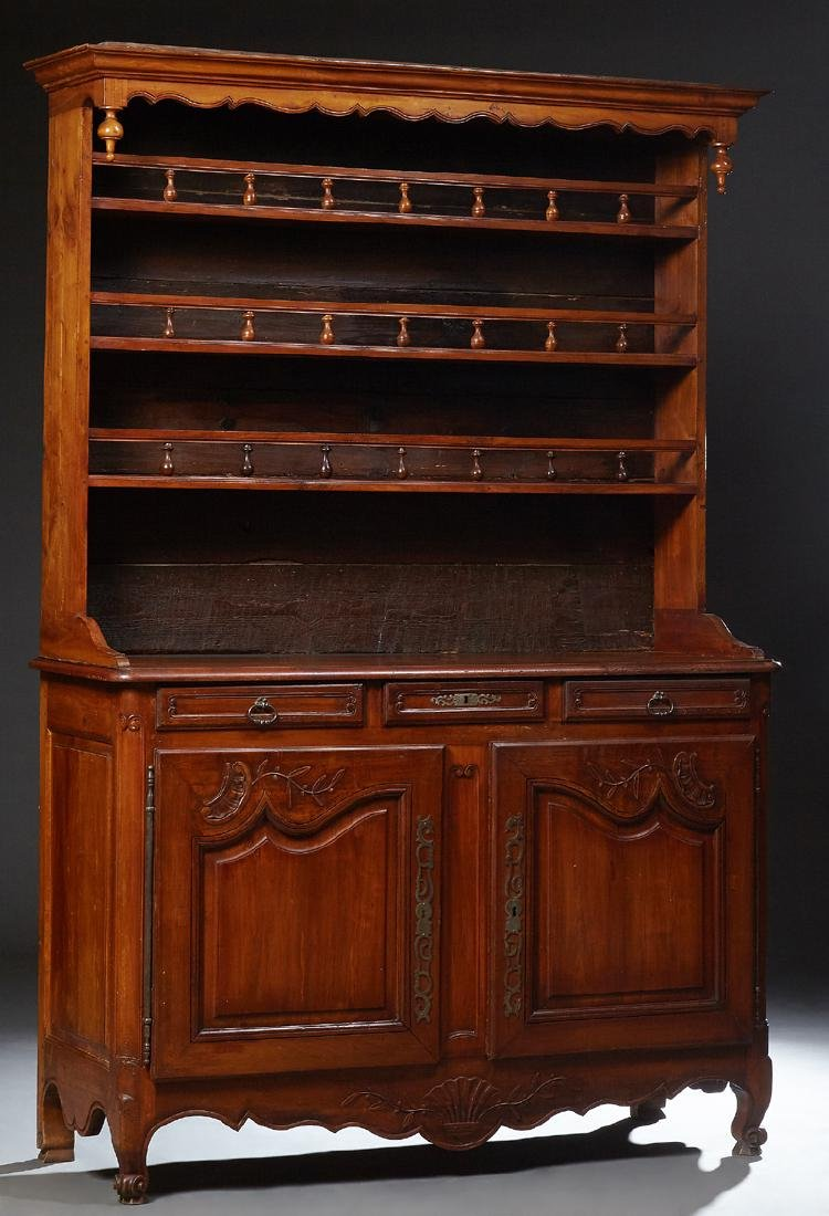 French Louis XV Style Carved Cherry Vaisselier, 19th