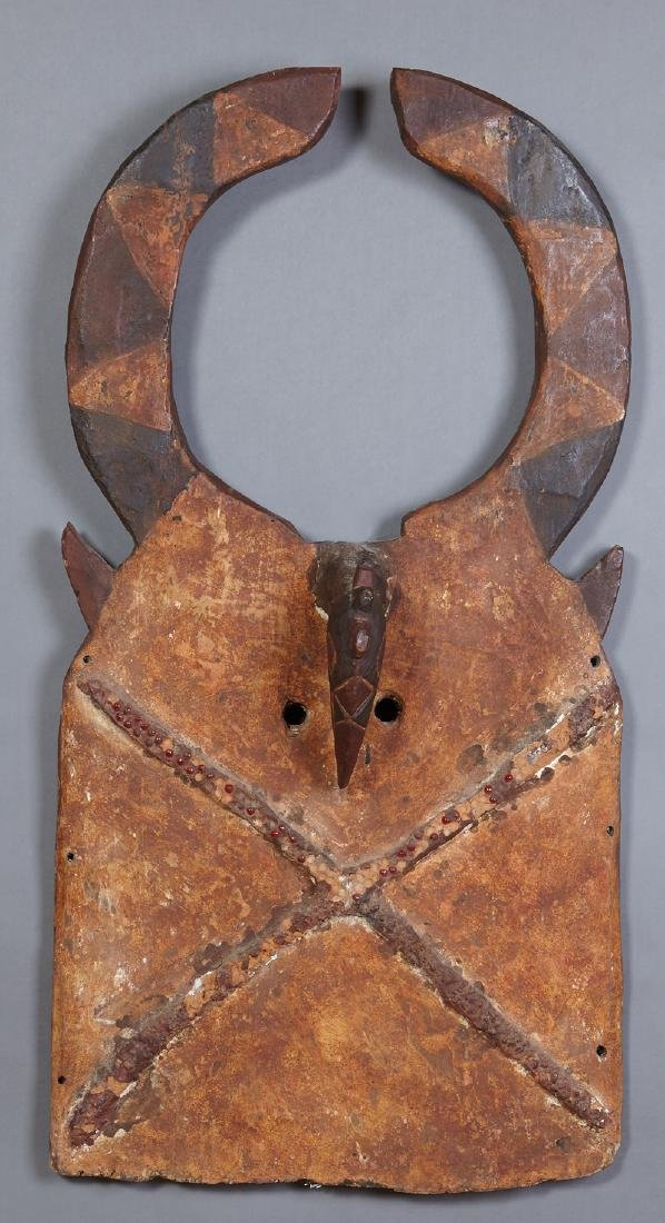African Tuysan Plank Mask, Burkino Faso, carved wood,