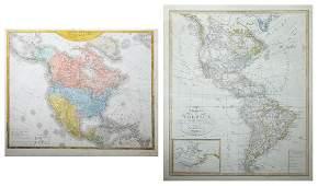 """Two Maps by Friedrich Wilhelm Streit, """"Charte von"""