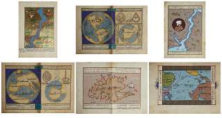 """Williams, """"Arabic Maps,"""" watercolor and ink,verso with"""