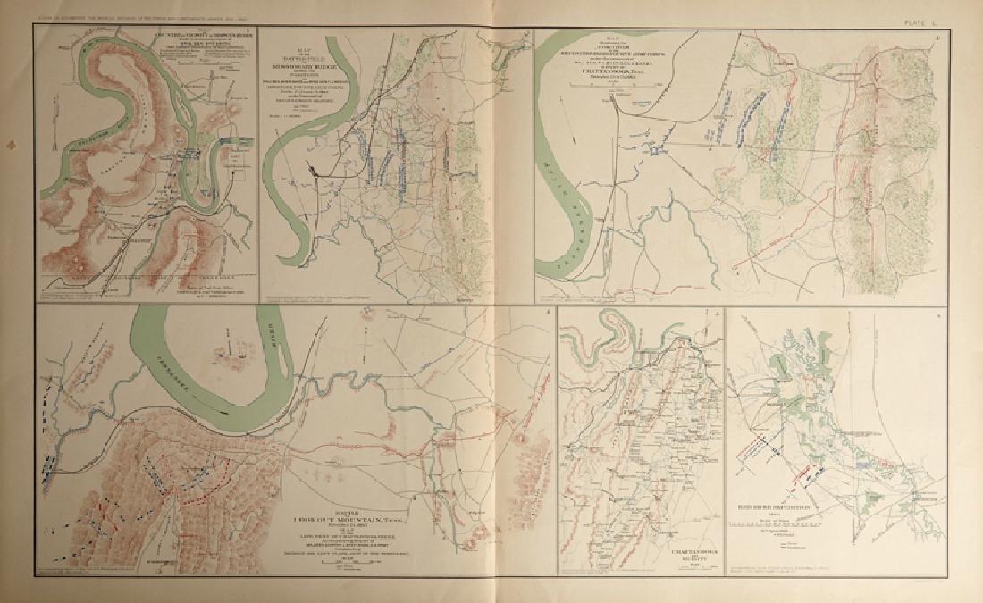 "Civil War Atlas ""Battle of  Lookout Mountain, Tenn.,"""