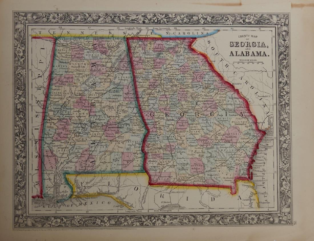 """Samuel Augustus Mitchell (1790-1868), """"County Map of"""