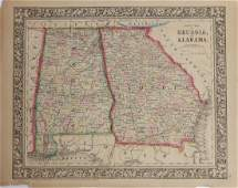 Samuel Augustus Mitchell 17901868 County Map of