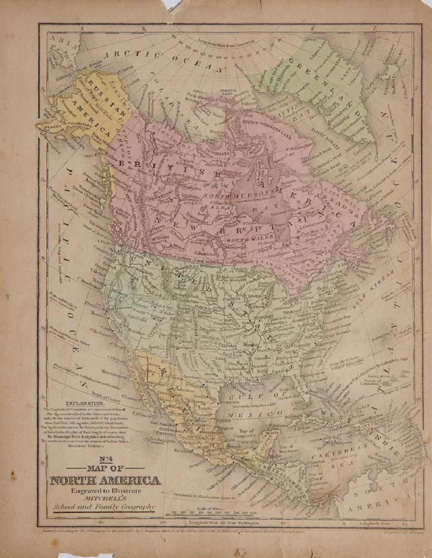 "Samuel Augustus Mitchell (1790-1868), ""Map of North"