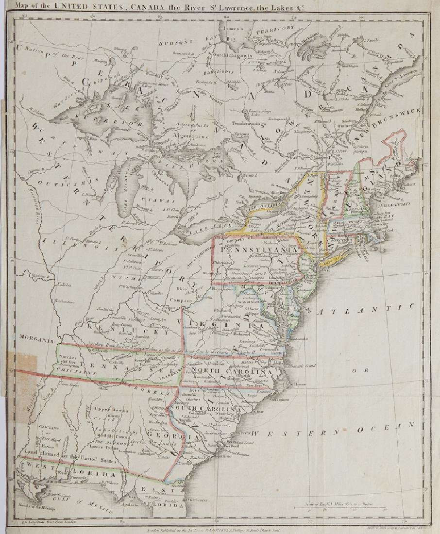 """Smith & Jones, """"Map of the United States, Canada, the"""