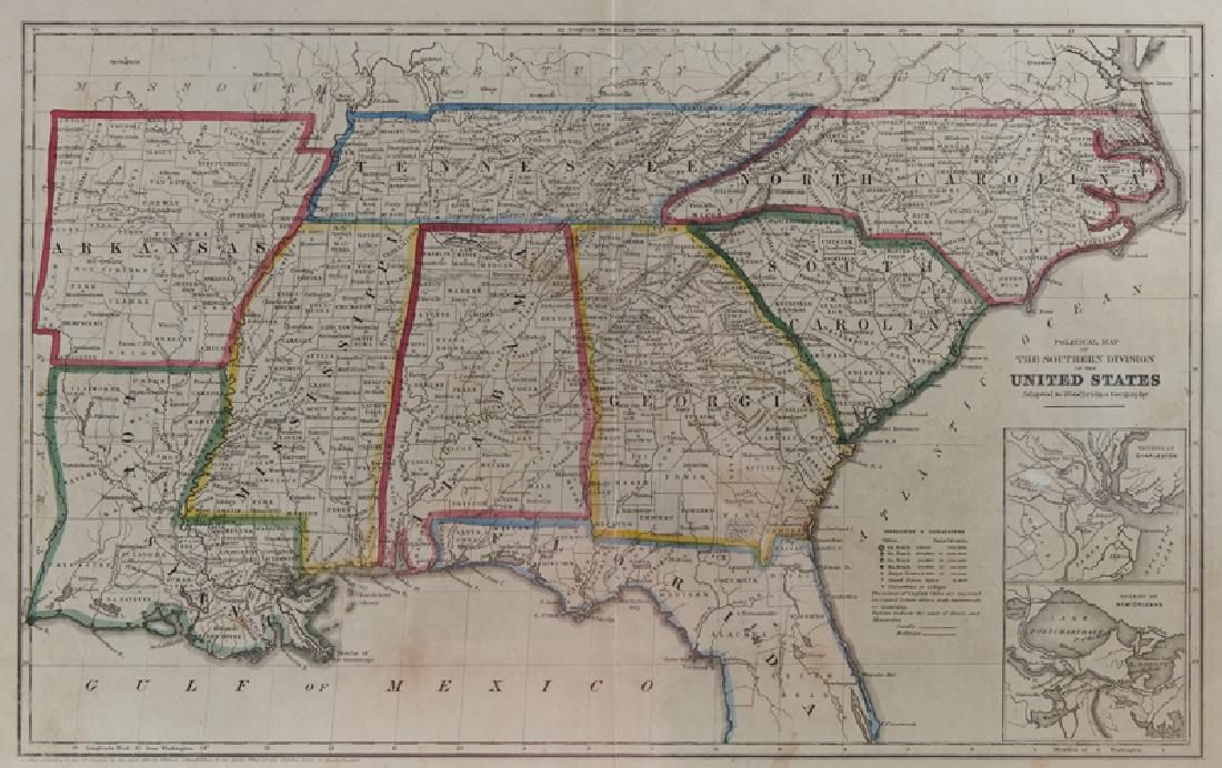 "William Woodbridge, ""Political Map of the Southern"