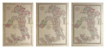 "Three Maps of A. J. Johnson's , ""Venetia, Kingdom of"