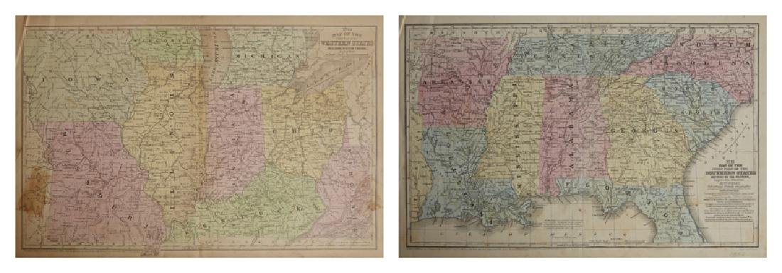 "Two Maps by Samuel Augustus Mitchell (1790-1868), ""Map"