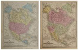 """Two Maps by Samuel Augustus Mitchell (1790-1868), """"Map"""