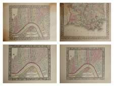 Three Copies of Samuel Augustus Mitchell (1790-1868),