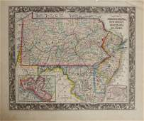 "Samuel Augustus Mitchell (1790-1868), ""County Map of"