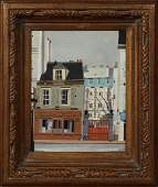 "Continental School, ""Buvette Juliette,"" 20th c., oil on"