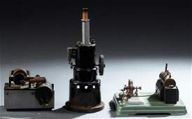 Group of Three French Cast Iron Toy Steam Engines, c.