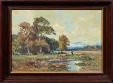 """Paul Johann Walch (1881-1958, German), """"Landscape with"""