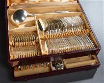 French Sixty-Two Piece Set of Silverplated Flatware,
