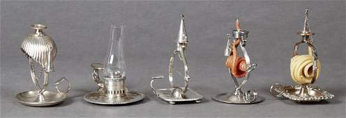 Group of English Silverplated Objects, 19th c.,