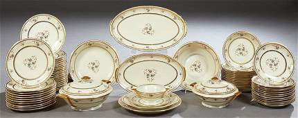 Sixty-Eight Piece Set of French Limoges Porcelain