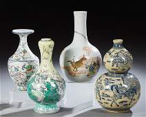 Group of Four Chinese Porcelain Baluster Vases, 20th