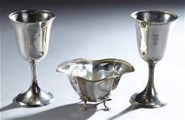 Three Pieces of Sterling Silver, early 20th c.,