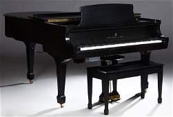 Steinway Ebonized Baby Grand Player Piano, 1981, Model