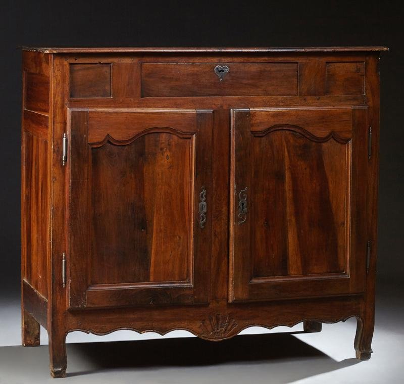 French Provincial Carved Walnut and Oak Sideboard, c.