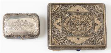 Two Russian Silver Pieces 20th c consisting of a